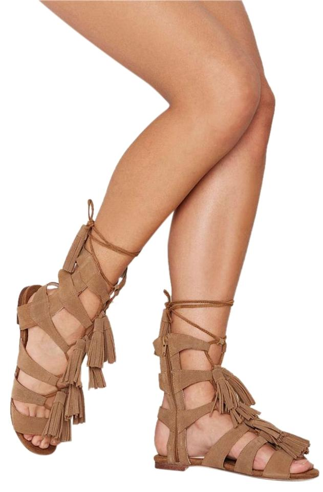 Jeffrey Sandals Campbell Hang Of Four Beige Suede Gladiator Sandals Jeffrey 5ff6cc