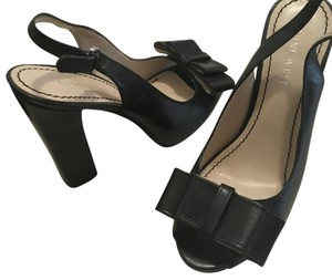 Nine West Bow Open Toe Classic Chic Black Formal