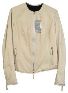 BROGDEN Beige Leather Jacket