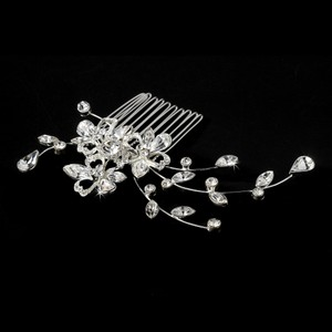 Beautiful Vintage Inspired Teardrop Crystal Wedding Bridal Comb