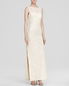 Sue Wong Sleeveless Embellished Soutache Cowl Back Wedding Dress