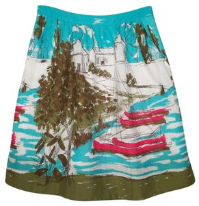 Anthropologie We Love Vera Seabound Printed Skirt
