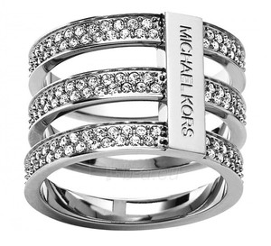 Michael Kors Michael Kors MKJ3782040 Tri Stackable look Silver tone Ring Size 9