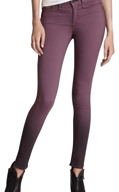 Item - Purple Dark Rinse Ombre Eggplant The Legging Plush Black Skinny Jeans Size 27 (4, S)