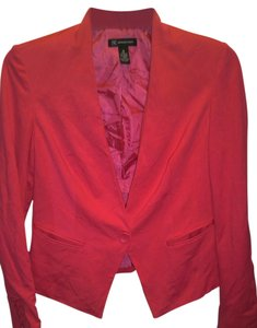 INC International Concepts Solid Print Lined Long Sleeved Pink Blazer