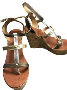 Diba True Brown, Gold and Silver Wedges