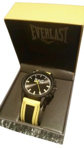 Everlast New EVERLAST Workout Sport Fitness Bright Yellow and Black Watch