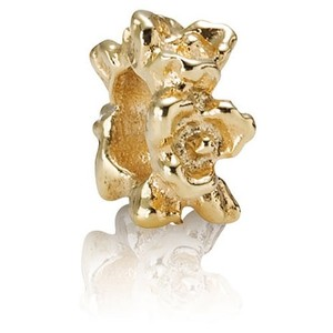 PANDORA Pandora 14k Gold Row of Flowers Spacer 750378 Authentic Retired