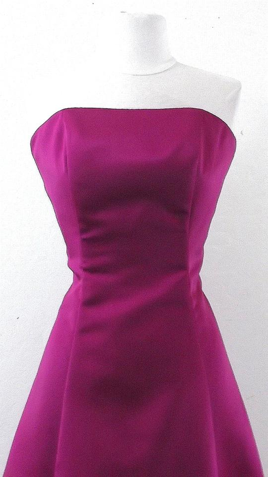 Raylia Designs Fuschia Satin Style 7324 Casual Bridesmaid/Mob Dress ...