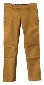 Anthropologie Khaki/Chino Pants Mustard Yellow
