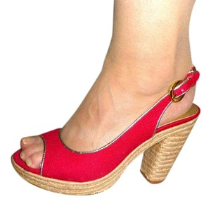 Tahari Red Platforms