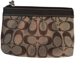 Coach Wristlet in Tan And Brown