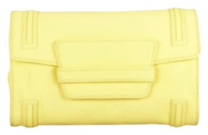 BCBGMAXAZRIA Chic Bright LIME YELLOW Clutch