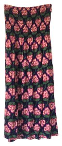 Forever 21 short dress Navy w/pink flowers on Tradesy