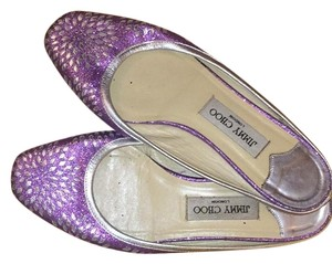Jimmy Choo Purple Sparkles with Silver Trim Sandals