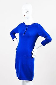 Chanel short dress Blue Cashmere Cc on Tradesy