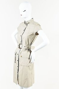 Belstaff short dress Khaki Cotton Buckled on Tradesy
