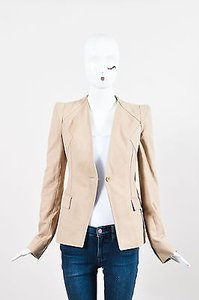 Givenchy Givenchy Tan Canvas Lace Inset Blazer