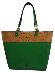 Ralph Lauren Polyurethane Faux Leather Tote in Green