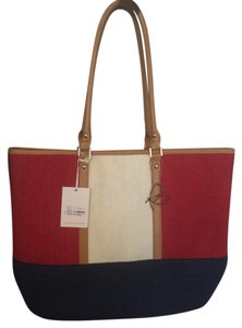 Pia Rossini Tote in Red/Navy