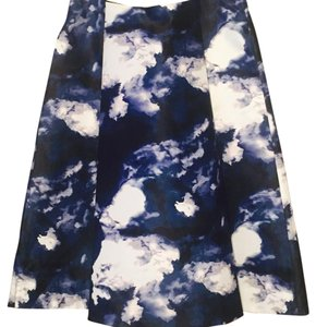 Kate Spade A-line Clouds Skirt blue and white