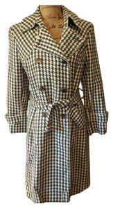 Searle Wrap Houndstooth Trench Coat