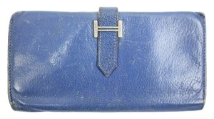 Hermès [ENTERPRISE] Bearn Blue Wallet HERLM29 73HERA609
