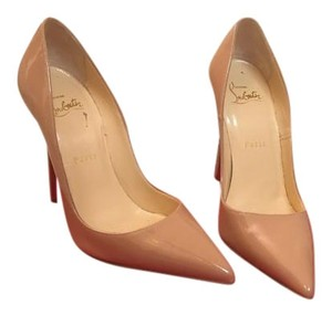Christian Louboutin tan patent leather Pumps