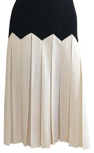 Ralph Lauren Pleated Skirt Black/white