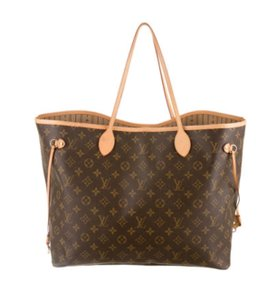 Louis Vuitton Neverfull Gm Tote in Brown and tan