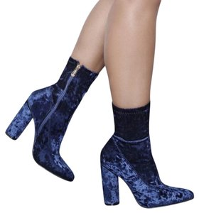 Blue Suade Boots