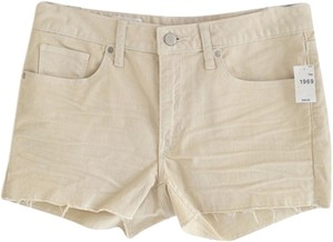 Gap Light Wash Off White Frayed Cut Off Shorts Off-white