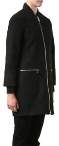 Elizabeth and James Wool Alpaca Front Zip Urban Trench Coat