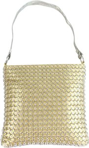 Whiting & Davis Evening Mesh Champagne Gold Clutch