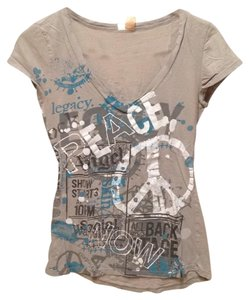 Eyeshadow T Shirt Printed Grey