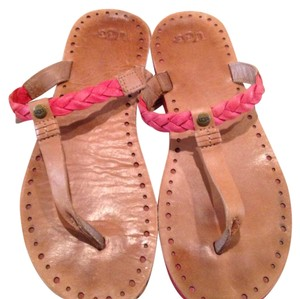 UGG Australia Tan and coral Sandals