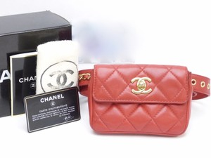 Chanel Chanel Quilted Turnlock Chain Belt Bum Bag Gold Tone Hardware