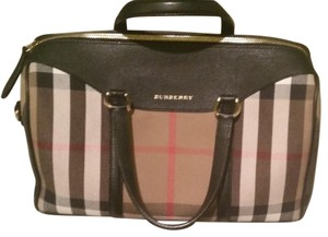 Burberry 2 Way Zip Closure Satchel in Black