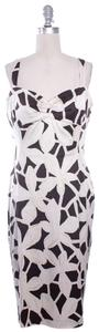 Diane von Furstenberg short dress White & Brown Dvf Sheath Pencil on Tradesy