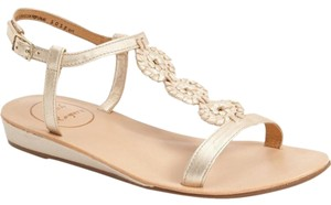 Jack Rogers Eve Whipstitch Pale Gold (platinum) Sandals