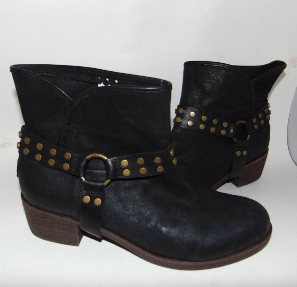 93431bb634e UGG Australia Black Darling Studded Harness Biker Boots/Booties Size US 10  Regular (M, B) 69% off retail