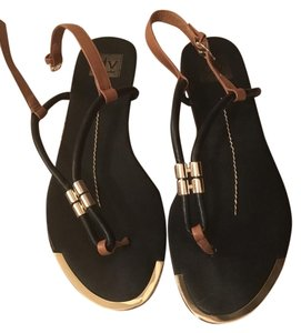 Dolce Vita Black with gold and brown Sandals
