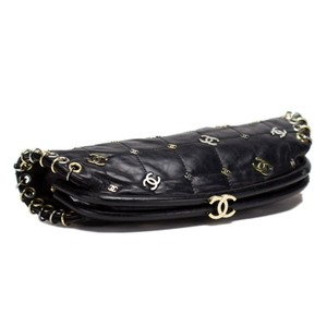 Chanel Charms Punk Limited Edition Rare Black Clutch
