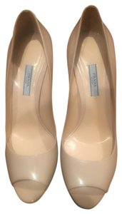 Prada Leather Nude Patent Pumps