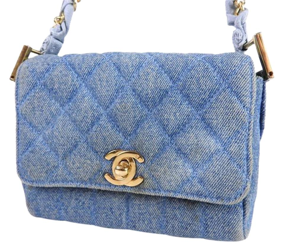 Chanel Rare Cc Logo Denim Shoulder Bag - Tradesy 0a769e42e4