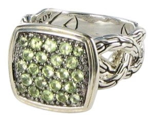 John Hardy Size 7.25, Sterling Silver, Green Peridot, Fashion Ring