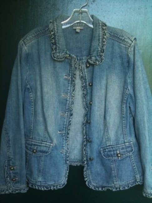 J. Jill Faded Blue Denim Womens Jean Jacket