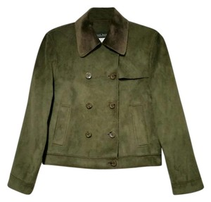 Harv Benard Faux Suede Double Breasted Coat