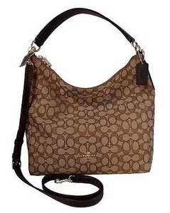 Coach Signature Convertible Hobo Bag