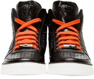Versace Black New Baroque Quilted Leather Sneakers For Men 40.5 - 7.5 Shoes